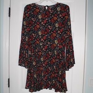 American Eagle Floral Dress w/ Long Bell Sleeves